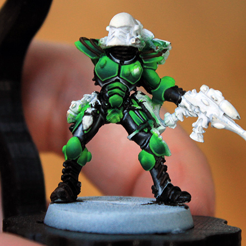 Eldar Striking Scorpion armour progress [image 1]
