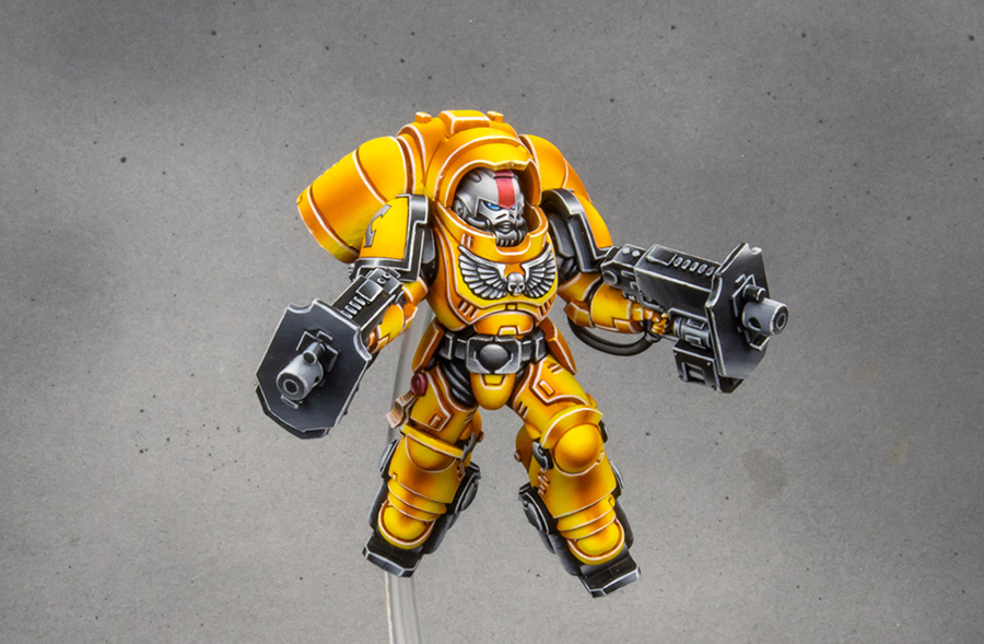 Imperial Fists Space Marine Primaris Inceptor squad [image 1]