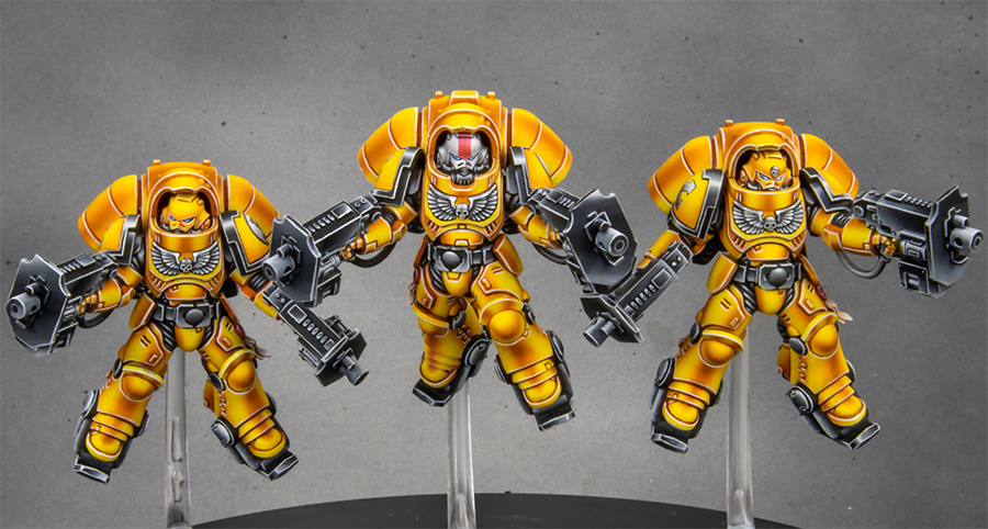 Imperial Fists Space Marine Primaris Inceptor squad [image 2]
