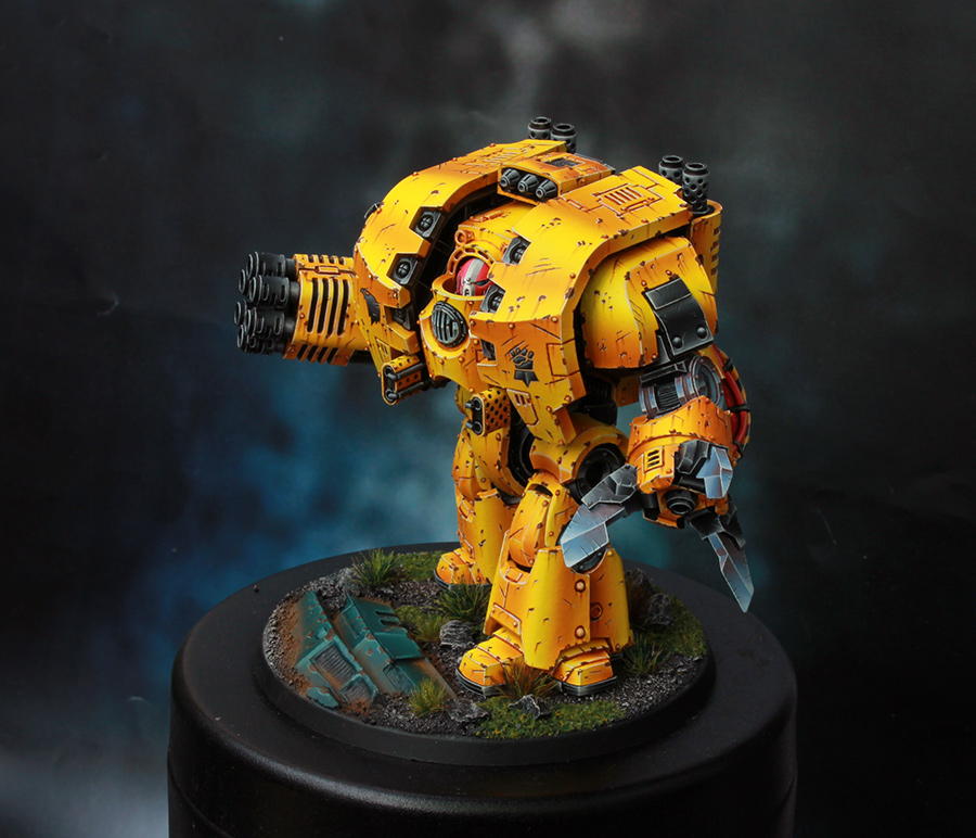 Imperial Fists Space Marine Leviathan Dreadnought [image 3]
