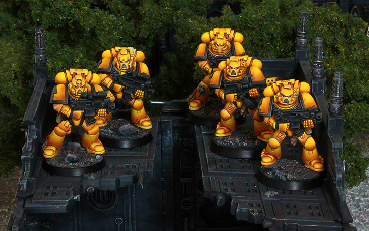 Imperial Fists Tactical Space Marines [image 1]